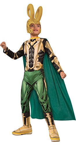 Avengers Assemble Loki Costume, Child's Large