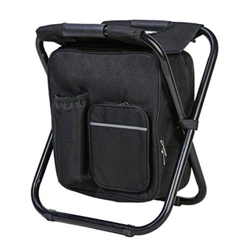 Brinny Tragbarer Camping Stuhl Rucksack Kühltasche Doppelschicht Oxford Sehr Leicht Belastbar bis 150 kg ideal für Wanderer Camper Strand Angeln Fischen -