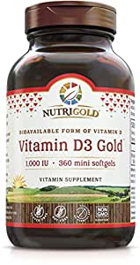 Nutrigold Vitamin D3 1000 Iu, 360 Mini Softgels