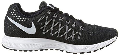 Nike Air Zoom Pegasus 32, Chaussures de Running Entrainement Femme Noir (Black/White/Pure Platinum)