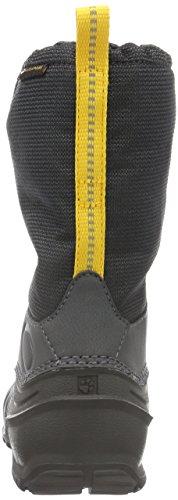 Jack Wolfskin Iceland Texapore High K, Bottes de Neige Mixte Enfant Noir (Burly Yellow Xt 3802)