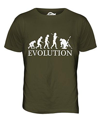 CandyMix Mörser Geschütz Soldat Mörtel Evolution Des Menschen Herren T Shirt Khaki Grün