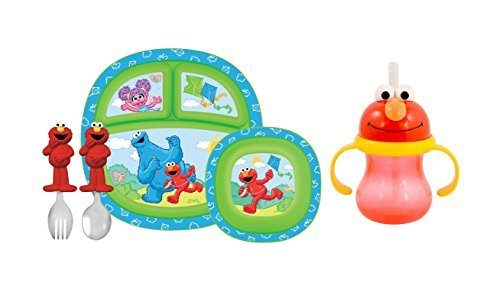 munchkin-sesame-street-toddler-dining-set-with-character-cup-red