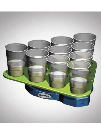 Spin Pong Party-Spiel grün-schwarz 44x39x5cm Einheitsgröße (Beer Pong Becher Kostüm)