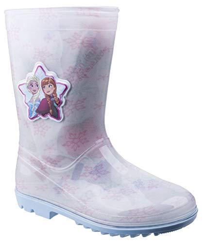 Leomil Womens ELSA Snow Flake Wellington White/Pink Size UK 7.5 EU 25 (Flake Snow Elsa)
