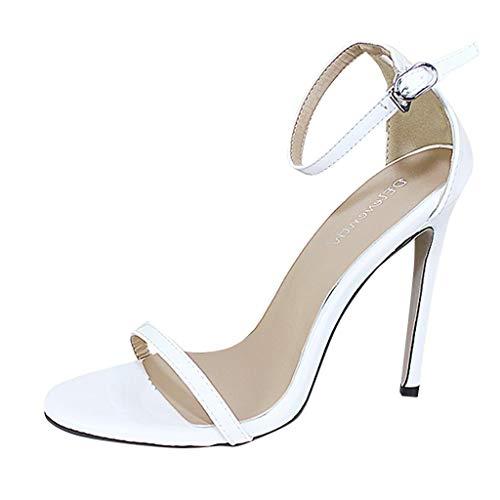 elriemen High Heels Offene Zehensandalen Hohe Stiletto Pumps mit Absatz Damen Party Schuhe Pumps Peep Toe Schuhe ()