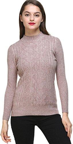 Vogueearth Donna's Lungo Manica Knit Slim-Fit Turtleneck Lungo Pullover Maglieria Sweater Nero-3