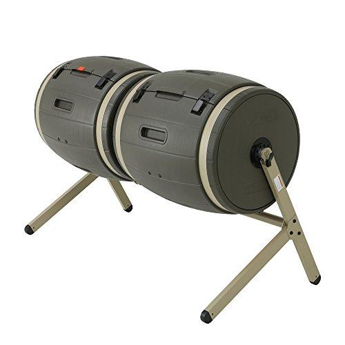 Lebenslange Dual 189Liter (50Gallonen) Kompost Tumbler–Braun