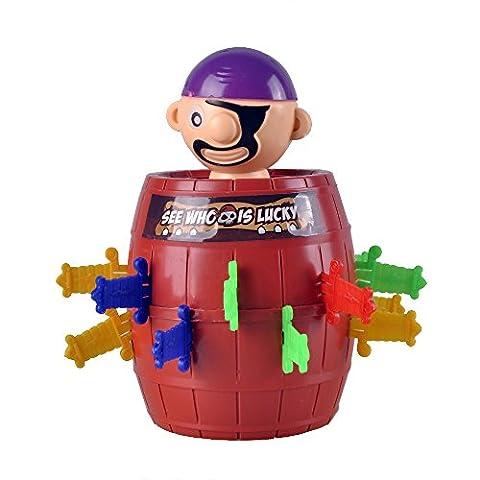 ETTG Super Pop Up Pirate Game, Insert Sword game Pirate Barrel Thorn pirate Bucket Kids Toys