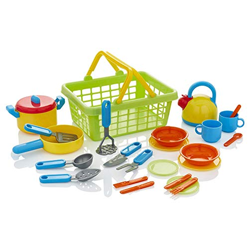 KiddyPlay Cook & Serve Kitchen Basket Playset
