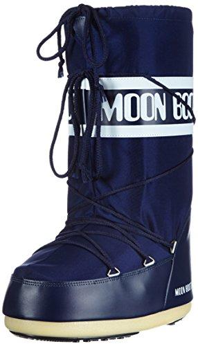 Moon Boot Nylon, Bottes de Neige mixte adulte Bleu (Blue)