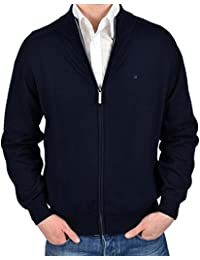 Casa moda 4250–135 veste en tricot bleu marine