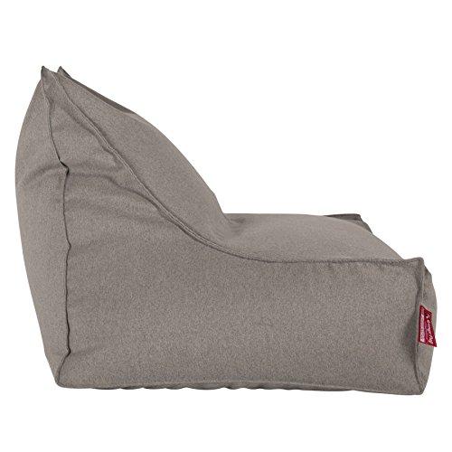 Lounge Pug, Sitzsack Lounge Sessel, Interalli Wolle Silber