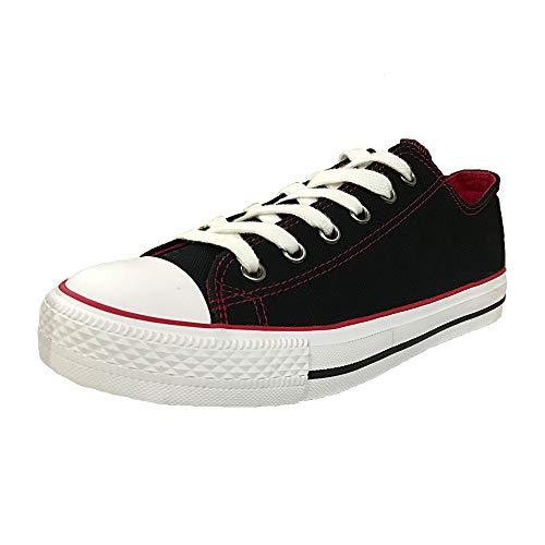 best service d05e9 0dd2b Hotroad Women s Canvas Classic Fashion Sneakers Casual Low Top Romper Sneaker  Walking Ladies Tennis Shoes,