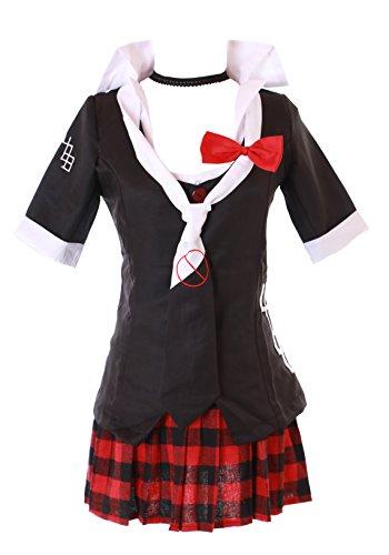 Kawaii-Story MN-41 Danganronpa Junko Enoshima 6-teilig Set schwarz Gothic Faschings Kostüm Cosplay Anime Manga (XL)