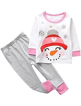 Bekleidung Set für Kinder Longra Neugeborenen Kinder Baby Junge Mädchen Outfits Kleidung Hirsch Langarm T-shirt...
