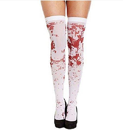 Paio di calze con effetto sangue sulle gambe per donna