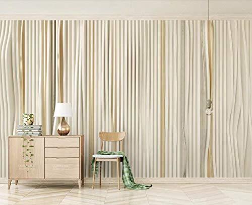 Carta Da Parati Adesiva Muro 3D Parete geometrica del fondo del mosaico astratto delle linee oro Fotomurali 3D Photo Wallpaper Moderna Murale