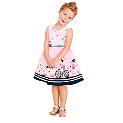 pour-2-8-ans-fille-robe-sans-manches-tonwalk-fille-robe-impression-4-5y-rose