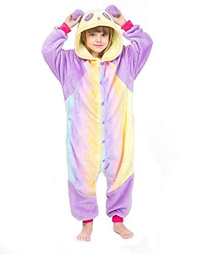 Kostüm Baby Panda Cute - Finewlo Animal Pyjamas, Kinder Cute Animal Kostüm für den Winter, Panda, 9-10 Jahre (suggest51-55