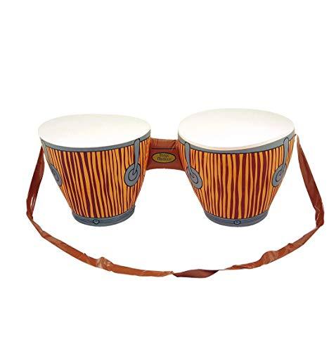 Islander Fashions Jamaican Rasta-Hut mit Dreadlocks und aufblasbarer Bongo-Trommel Karibik Party Set (Aufblasbare Bongo-Trommeln) One Size (Hüte Jamaican)