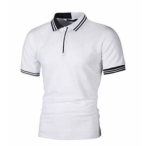 Beiläufige dünne Kurze Hülsen-Patchwork-Shirt-Spitzenbluse der Art- und Weisepersönlichkeit-Männer
