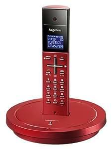 Hagenuk Classico schnurloses Telefon rot: Amazon.de ...