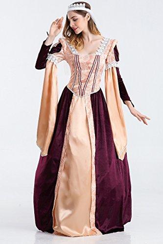 Ruanyi Spiel Uniform Gericht Prinzessin Kostüm Königin Kostüm Cosplay Halloween Party Uniform Für Frauen (Size : L)