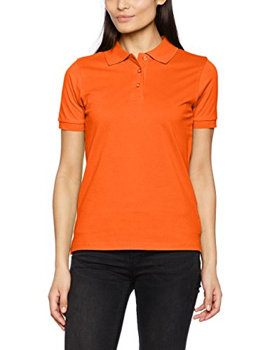 JAMES & NICHOLSON Classic Ladies, Polo Femme Orange (dark-orange)
