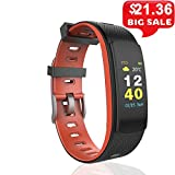 DMMDHR DMMDHR Smart Fitness Armband Pulsmesser Armband Sport IP67 Wasserdicht Smart Band Fitness Tracker.