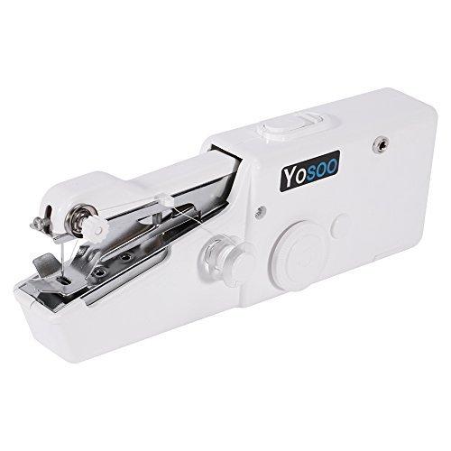 Mini Máquina de Coser Portatil de Viaje + 2 Psc Hilos + 3 Psc Addicionales, Máquina de Coser Pequeña 20.7 * 7.3 * 3.4 cm , Línea Sola (Por 1,8 mm de espesor de tejido máx)