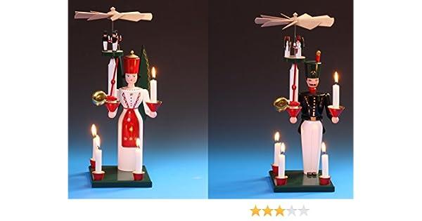 Glocken-Engel 40cm Schalling Seiffen Glockenengel mit Pyramide Erzgebirge