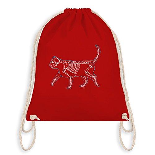 Katzen - Spooky Cat - Turnbeutel I Gym Bag Rot