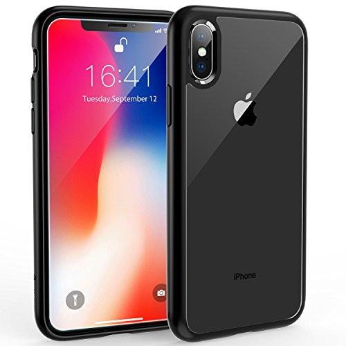 Syncwire UltraRock Hülle kompatibel mit iPhone X iPhone XS, Handyhülle für iPhone X, Schutzhülle mit fortschrittlichen Fall-Schutz und Luftkissen Safeguard Technologie für Apple iPhone10, Matt schwarz Apple-iphone Fall