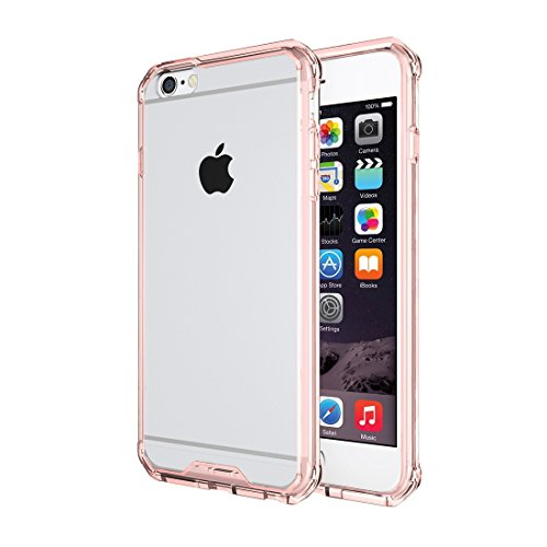 Phone Case & Hülle Für iPhone 6 Plus & 6s Plus, Shockproof Acryl + TPU Transparente Rüstung Schutzhülle ( Color : Transparent ) Magenta