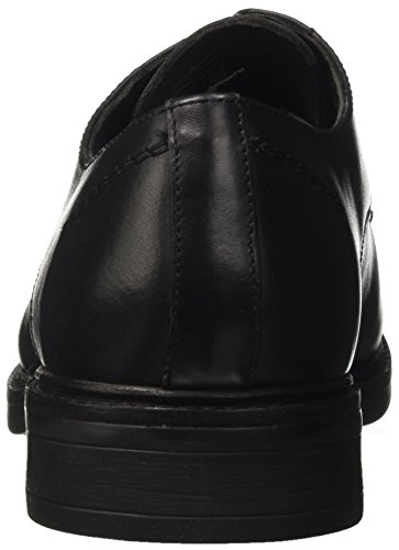 Lumberjack William, Scarpe Stringate Basse Derby Uomo Nero (Black)