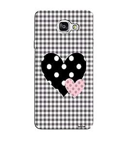 Citydreamz Black White Polka Dots Heart Checkered Pattern/Love/Valentine Hard Polycarbonate Designer Back Case Cover For Samsung Galaxy A7 2016 Edition/Samsung Galaxy A710