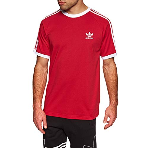 adidas Herren 3-Stripes Tee T-Shirt, Power red, M