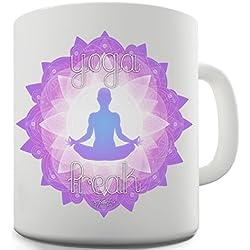 Trenzado Envy Yoga Freak cerámica novedad taza