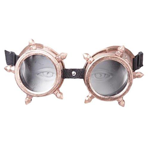 Nerd Cute Kostüm Männer - Rock Daddy Steampunk Brille - Spikes Bronze