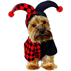 THEE Ropa para Mascotas Payaso Disfraz de Perro o Gato Fiesta Traje