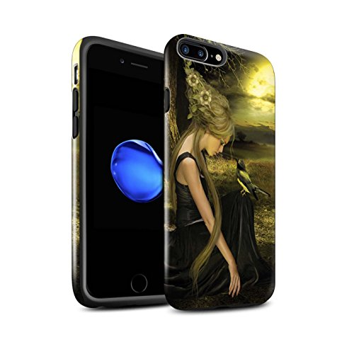 Officiel Elena Dudina Coque / Brillant Robuste Antichoc Etui pour Apple iPhone 8 Plus / Pack 18pcs Design / Les Oiseaux Collection Coucher Soleil