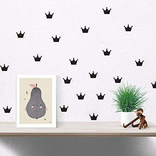 Nordic Crown (LOESHD Dekorativer Aufkleber Nordic Kinder S Benutzerdefinierte Crown Muster Wandaufkleber Für Kinder S Raumdekoration Vinyl Kann entfernt Werden)