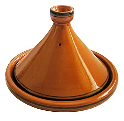 A Traditional Moroccan Tagine With A Set Of 3 Tagine Spice Blends And A Heat Diffuser by Marrakesh Trading