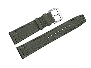 verde militar de nylon balístico de correas de reloj de la calidad superior de los hombres de 20 mm reemplazos dos piezas de AUTULET