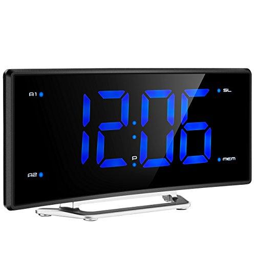 FM Projektionswecker, Mpow FM Radiowecker mit Projektion, Uhrenradio / digitaler Wecker, Dual-Alarm mit USB-Ladeanschluss, Snooze Funktion, Einschlaffunktion, 2-Zoll große LED-Anzeige mit Dimmer, 12/24-Stunden-Batterie-Backup für Stromausfall