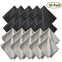 GCOA 20 Piezas Microfibra Paños de Limpieza para la Limpieza de Gafas, Lentes de Camara