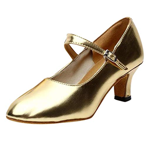 QinMM Zapatos tacón Alto Tango Rumba Baile