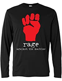 Herren Langarmshirt - Rage Against the Machine - fist logo - Long Sleeve 100% Baumwolle LaMAGLIERIA