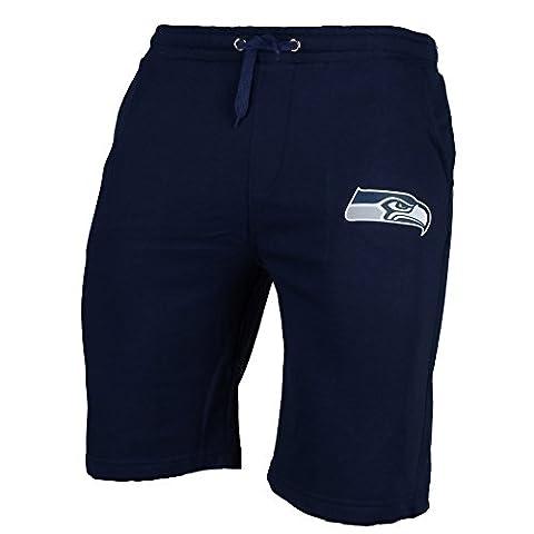 Majestic Seattle Seahawks Logo de l'équipe NFL Short Bleu marine